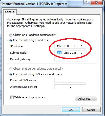Chỉnh lại card mạng LAN - Điền 2 dãy số như hình