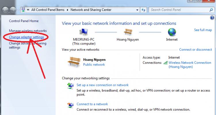 Chỉnh lại card mạng LAN - Click chuột phải vào card mạng - Chọn Properties