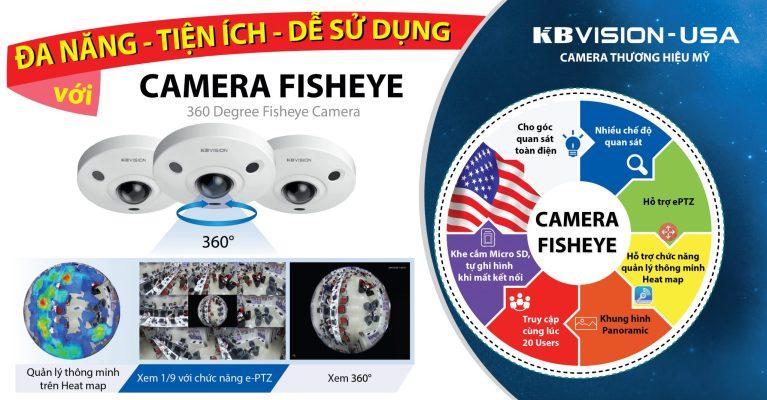 Camera Fish Eye đa năng, tiện ích, dễ sử dụng
