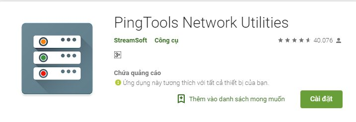 Hình ảnh phần mềm Ping Tools