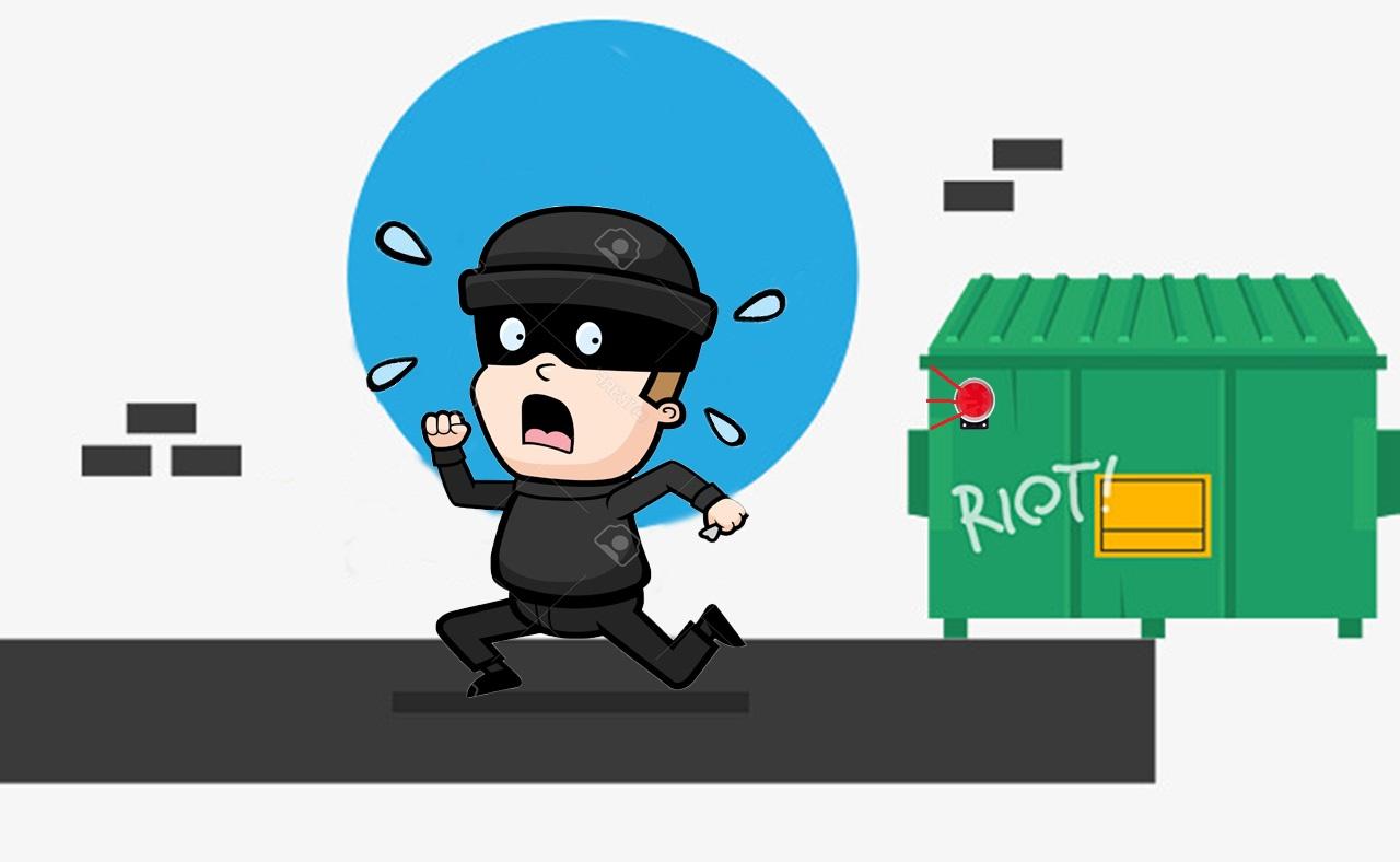 Trộm bỏ chạy khi có báo động thiết bị báo trộm không dây chất lượng