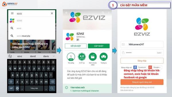 Hướng dẫn sử dụng ứng dụng EZVIZ trên điện thoại di động
