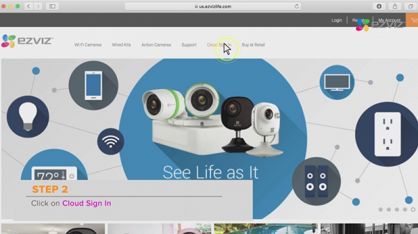 Chia sẻ thiết bị EZVIZ trên website nhanh chóng