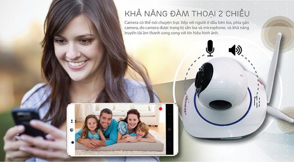 Camera an ninh wifi có tính năng đàm thoại hai chiều