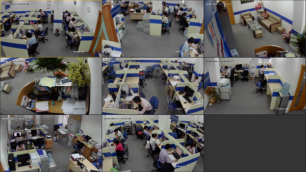 Bộ camera giám sát văn phòng được sử dụng rộng rãi