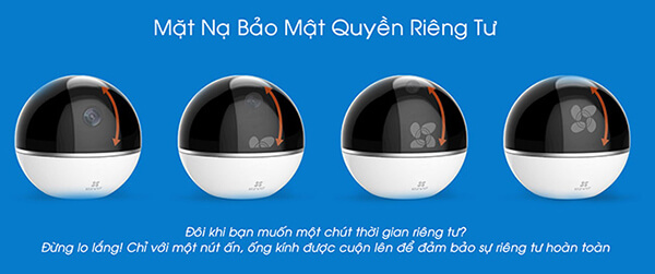 Camera IP Wifi EZVIZ CS-CV248 (C6T) mặt nạ