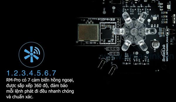 Trung Tâm Điều Khiển Nhà Thông Minh Broadlink RM-Pro thông minh
